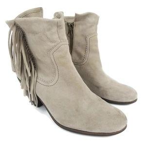 Sam Edelman Louie Ankle Bootie Fringe Two-Way Wear